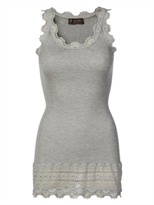 Rosemunde vintage blonde top, blonde bund - Light grey melange