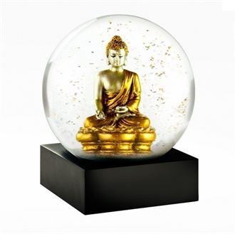 Cool Snow Globe - Gold Buddha