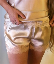 Gold Hawk silkeshorts -  lys nude